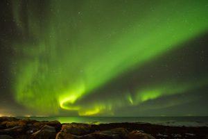 Aurora taken beside Guest House Iceland